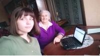 Обучение компьютерной грамотности на дому в ОБУСО «ЦСО «Участие» города Курска»
